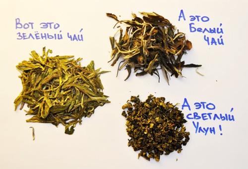 Виды чая зелёного