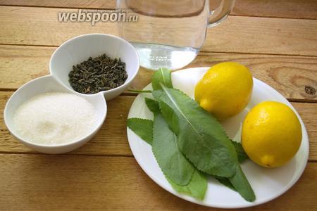 Напиток Из Зеленого Чая Лимона И Минералки - описание
